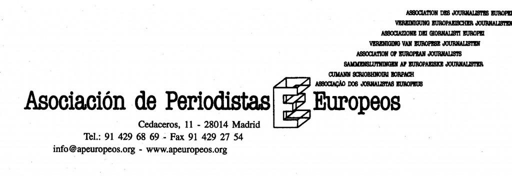 Logotipo Asociación de Periodistas Europeos