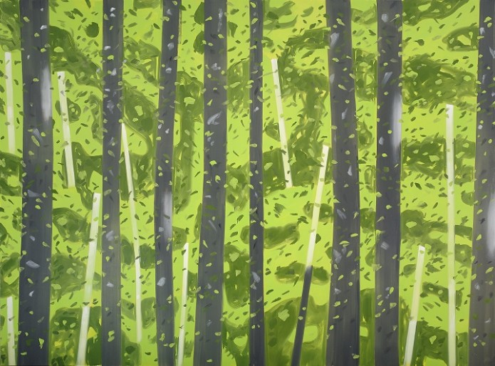 Alex Katz. 10:30 AM, 2007-08. Oil on linen. 144 x 192 inches. Collection of the artist.