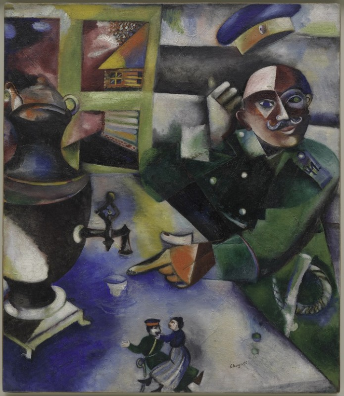 Marc Chagall, The Soldier Drinks (Le soldat boit), 1911–12