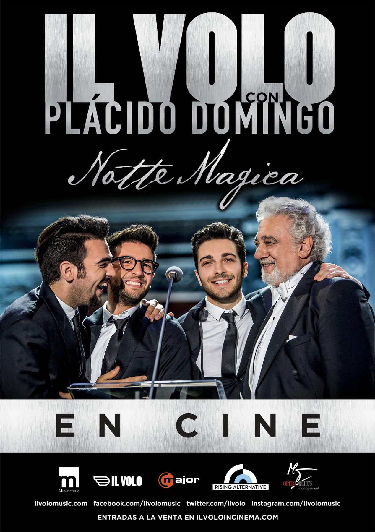 """IL VOLO con Plácido Domingo: """"Notte Magica"""" en cines"""